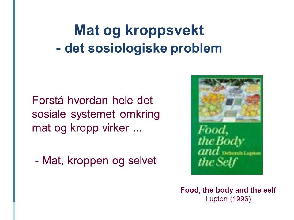 Mat og kroppsvekt - det sosiologiske problem