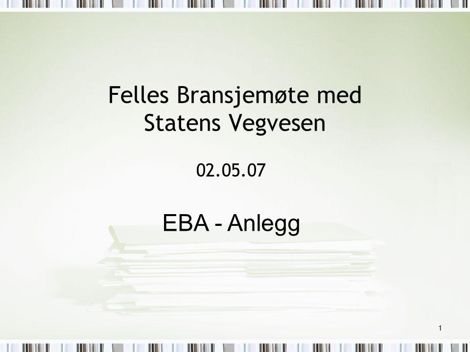 Felles Bransjemøte med Statens Vegvesen
