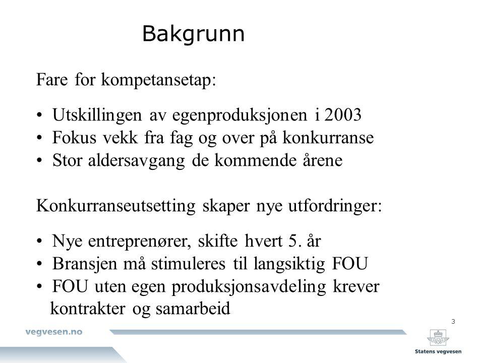 Bakgrunn Fare for kompetansetap:
