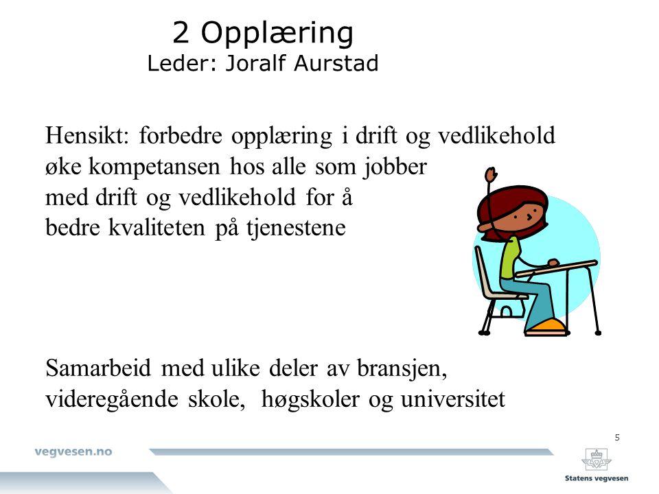 2 Opplæring Leder: Joralf Aurstad