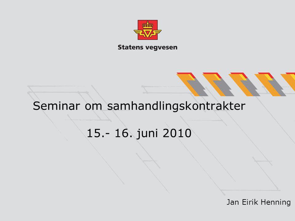 Seminar om samhandlingskontrakter 15.- 16. juni 2010