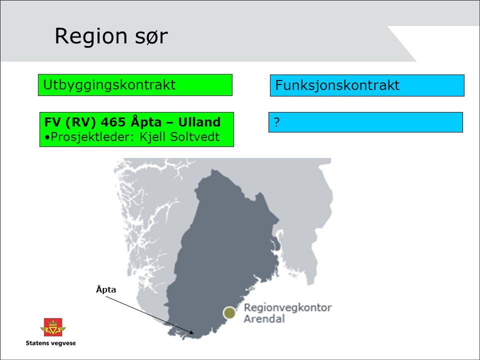 Region sør Utbyggingskontrakt Funksjonskontrakt