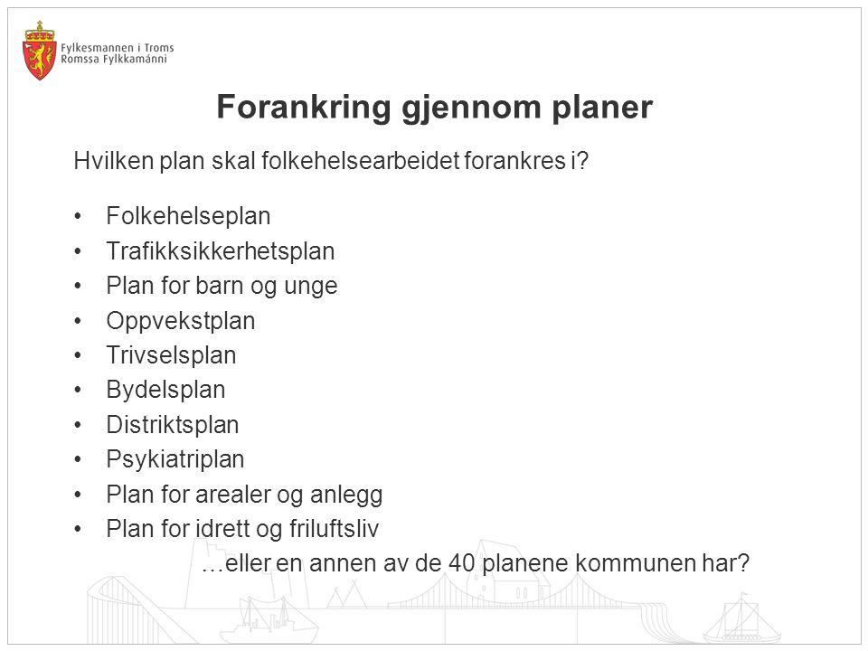Forankring gjennom planer