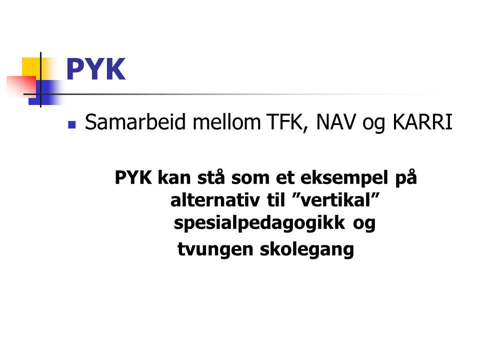 PYK Samarbeid mellom TFK, NAV og KARRI