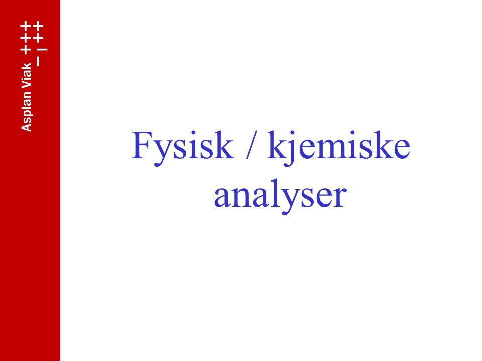 Fysisk / kjemiske analyser