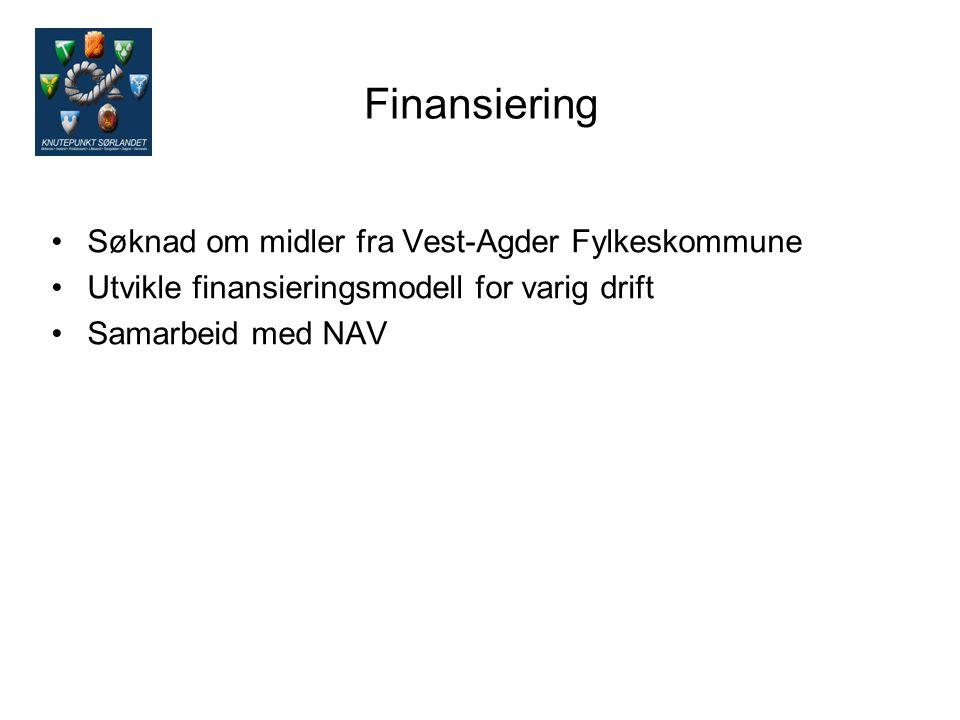 Finansiering Søknad om midler fra Vest-Agder Fylkeskommune