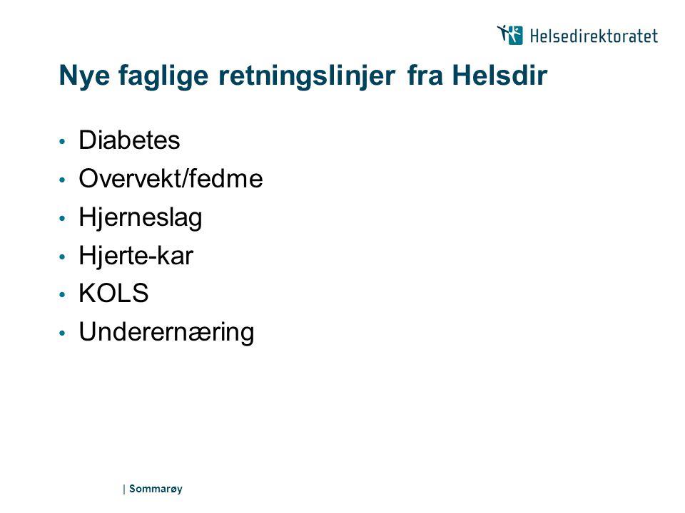 Nye faglige retningslinjer fra Helsdir