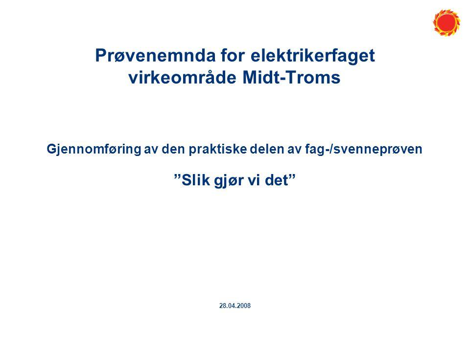 Prøvenemnda for elektrikerfaget virkeområde Midt-Troms