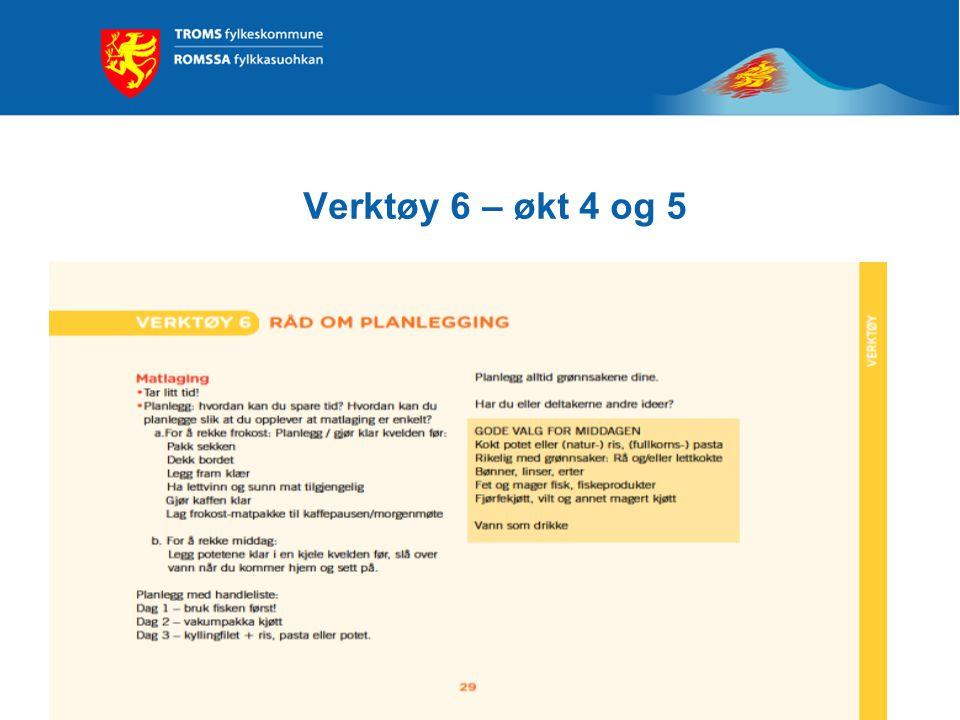 Verktøy 6 – økt 4 og 5