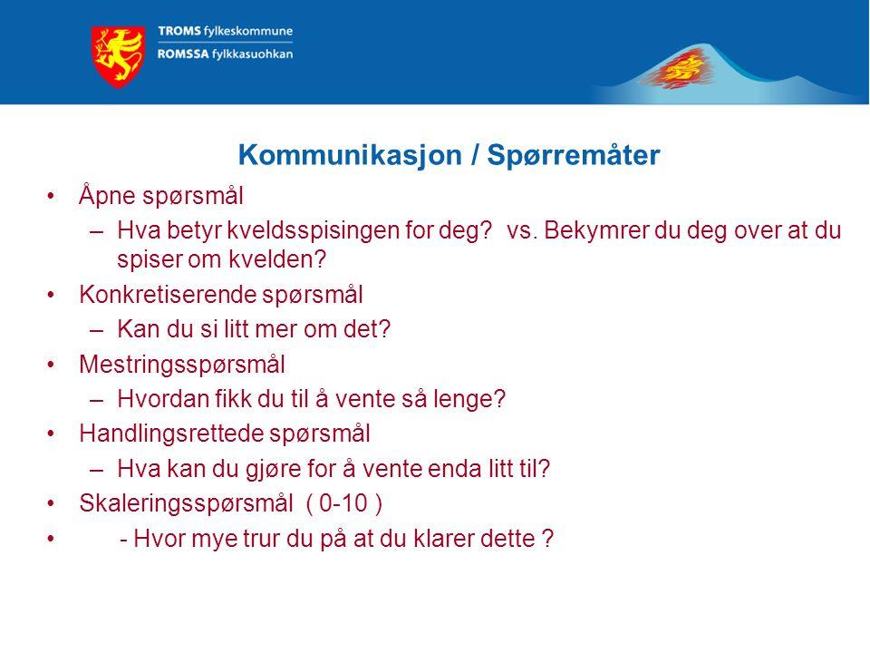 Kommunikasjon / Spørremåter