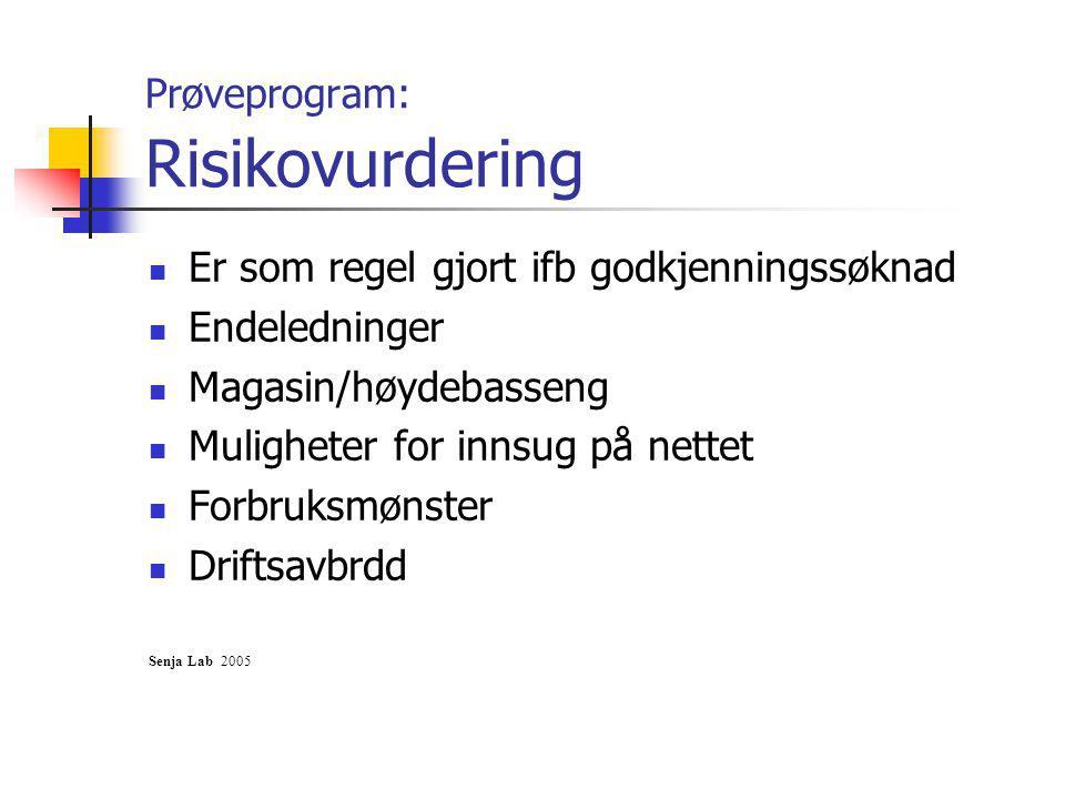 Prøveprogram: Risikovurdering