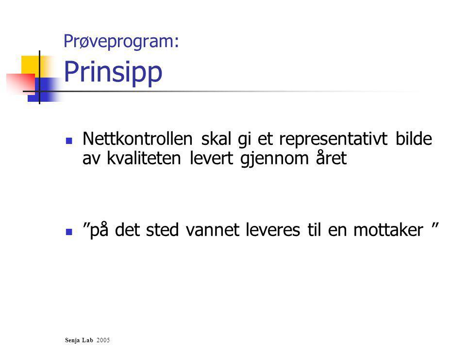 Prøveprogram: Prinsipp