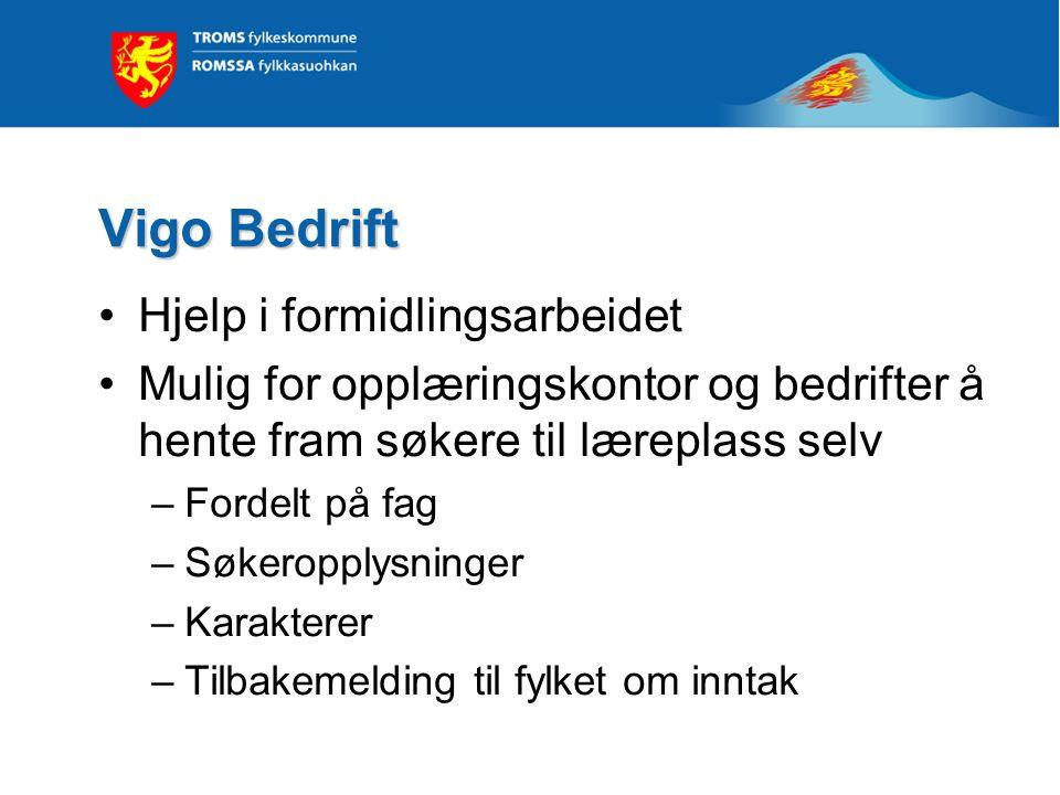 Vigo Bedrift Hjelp i formidlingsarbeidet