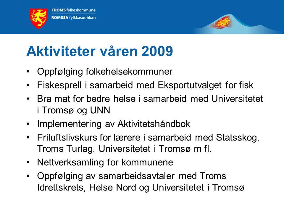 Aktiviteter våren 2009 Oppfølging folkehelsekommuner