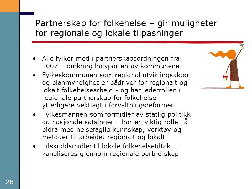 Partnerskap for folkehelse – gir muligheter for regionale og lokale tilpasninger