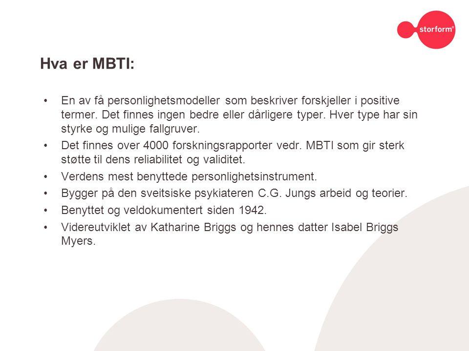 Hva er MBTI: