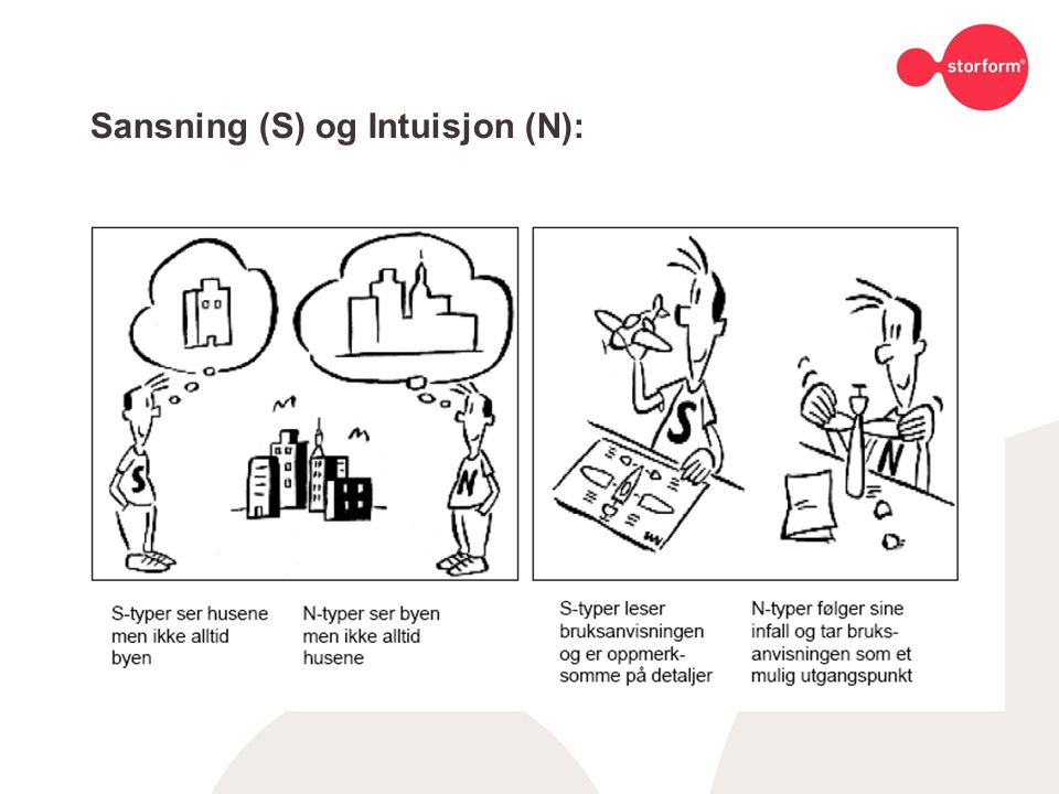 Sansning (S) og Intuisjon (N):