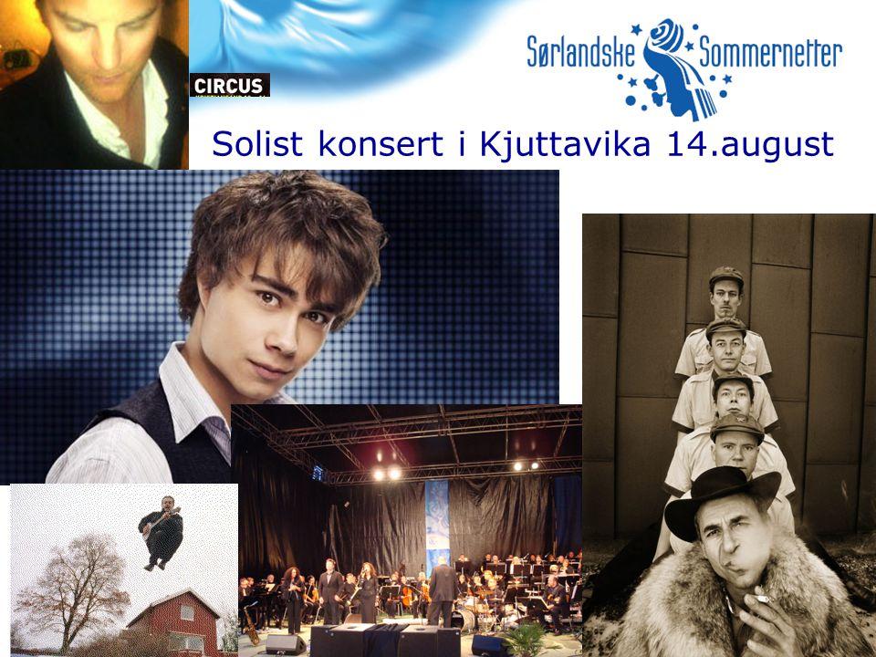 Solist konsert i Kjuttavika 14.august