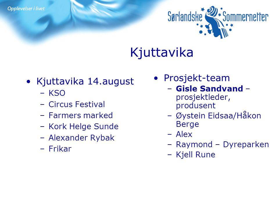 Kjuttavika Prosjekt-team Kjuttavika 14.august