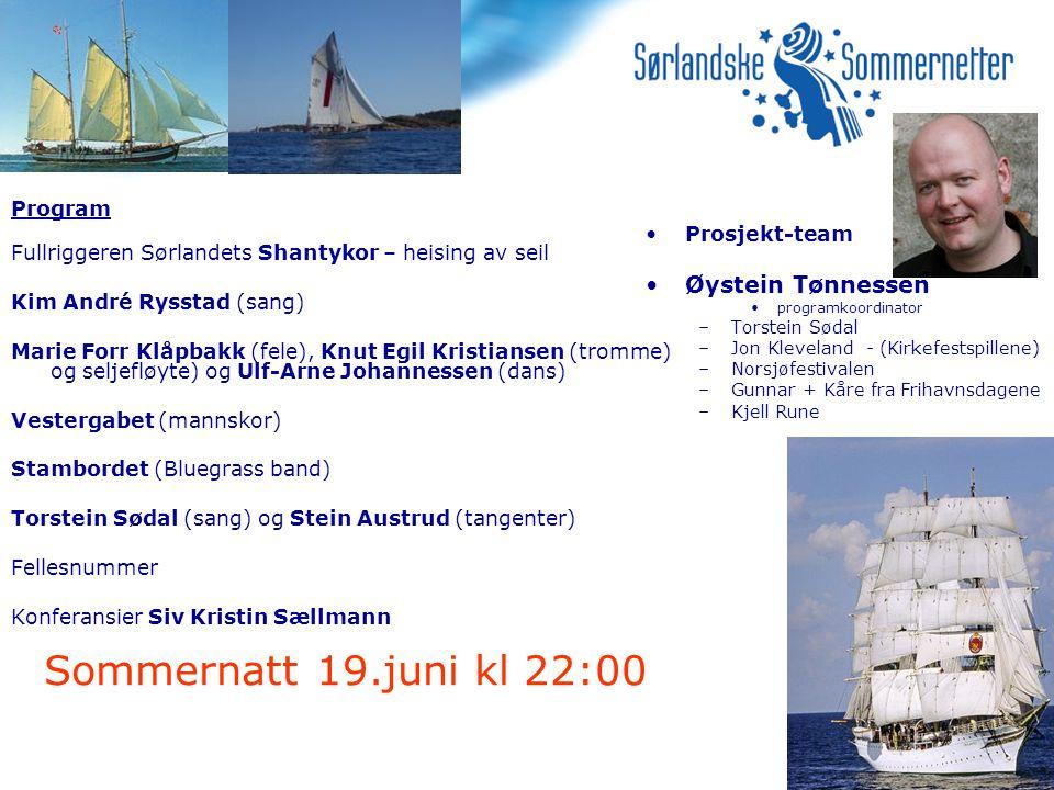 Sommernatt 19.juni kl 22:00 Øystein Tønnessen Program