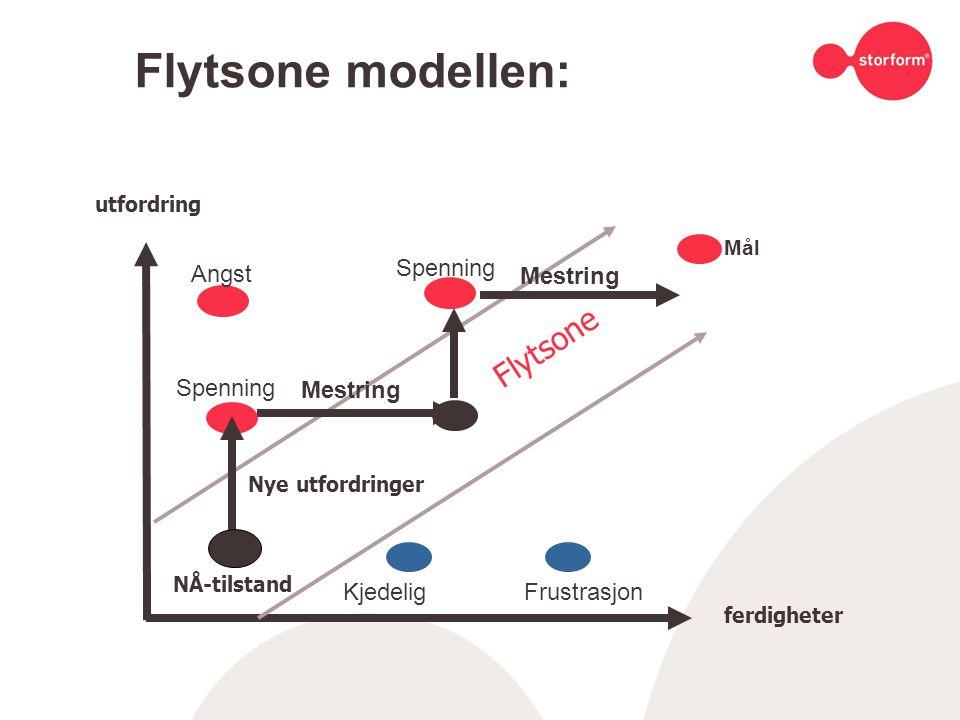 Flytsone modellen: Spenning Angst Mestring Spenning Mestring Kjedelig