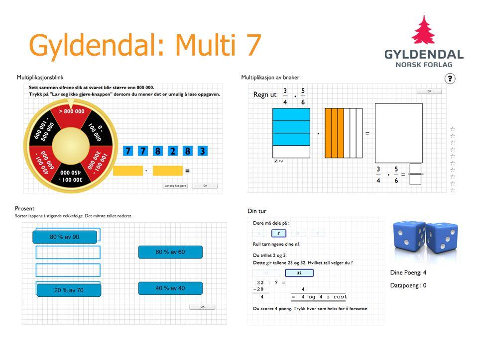 Gyldendal: Multi 7 Multi fra web