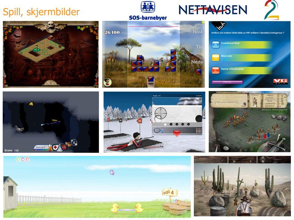 Spill, skjermbilder Spill, skjermbilder