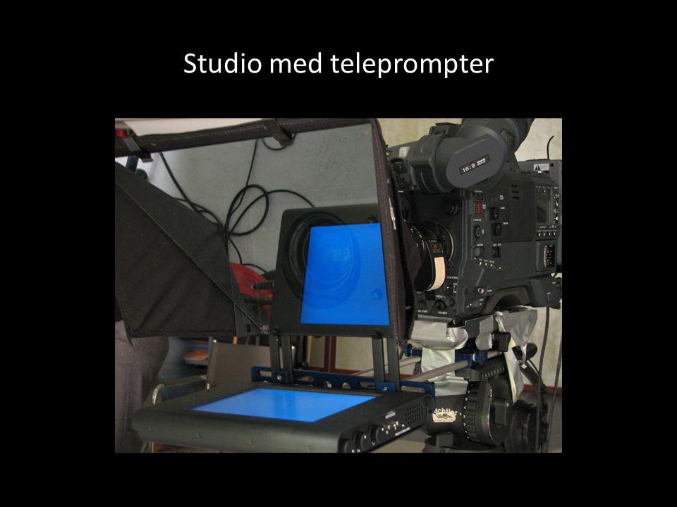 Studio med teleprompter