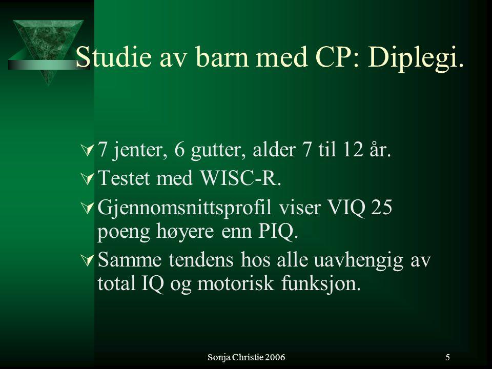 Studie av barn med CP: Diplegi.