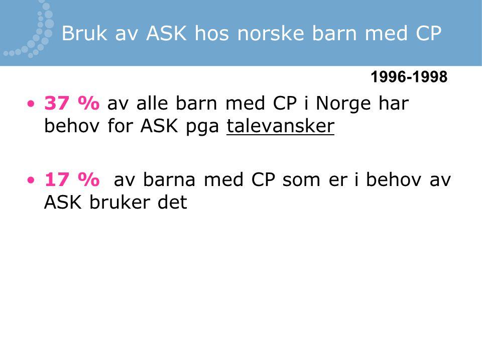 Bruk av ASK hos norske barn med CP