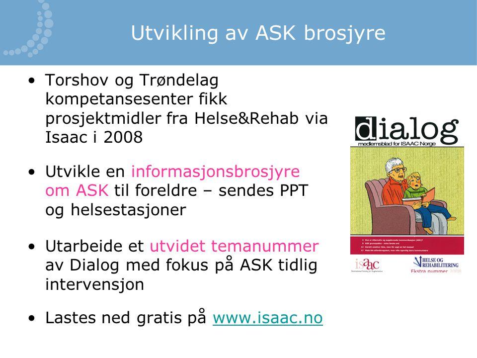 Utvikling av ASK brosjyre