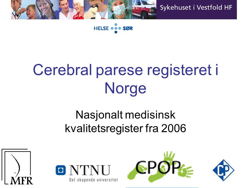 Cerebral parese registeret i Norge