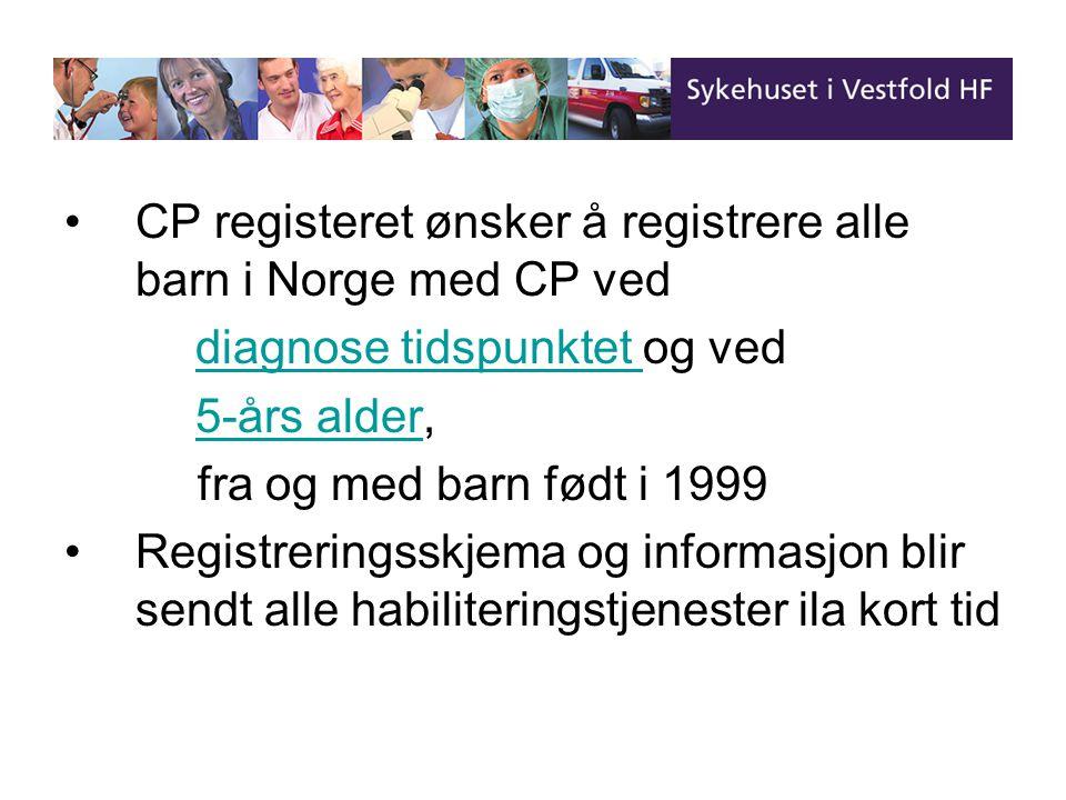 CP registeret ønsker å registrere alle barn i Norge med CP ved