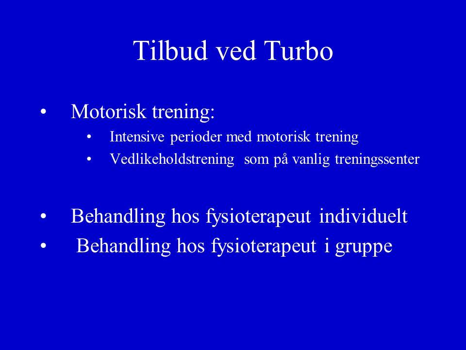 Tilbud ved Turbo Motorisk trening: