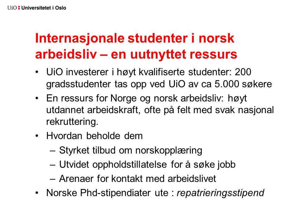 Internasjonale studenter i norsk arbeidsliv – en uutnyttet ressurs