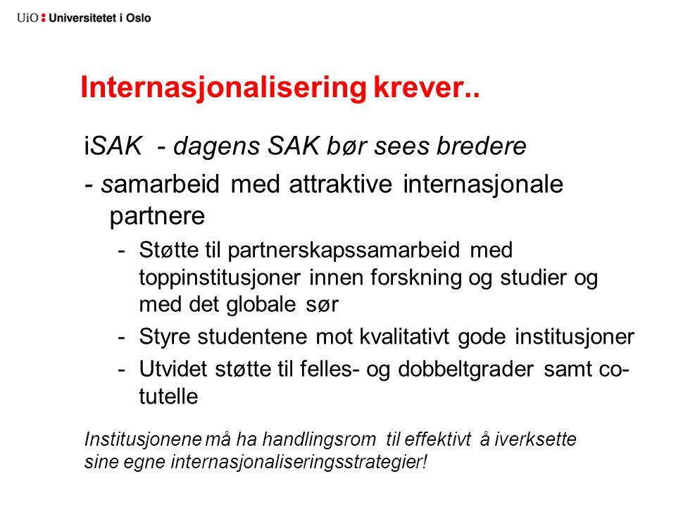 Internasjonalisering krever..