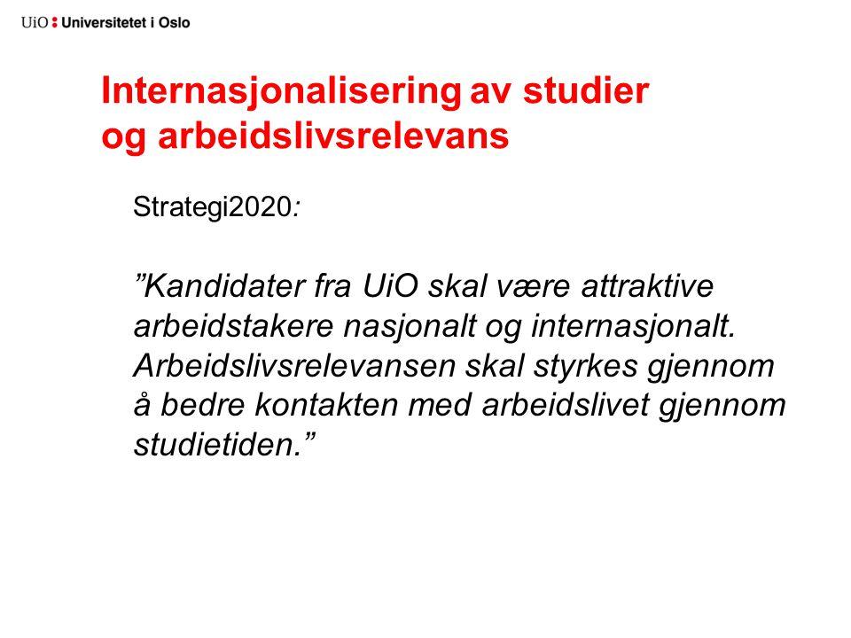 Internasjonalisering av studier og arbeidslivsrelevans