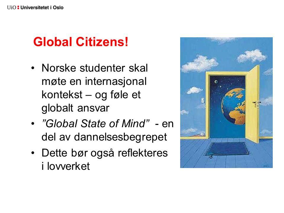 Global Citizens! Norske studenter skal møte en internasjonal kontekst – og føle et globalt ansvar.