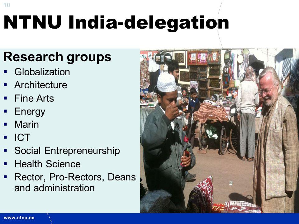 NTNU India-delegation