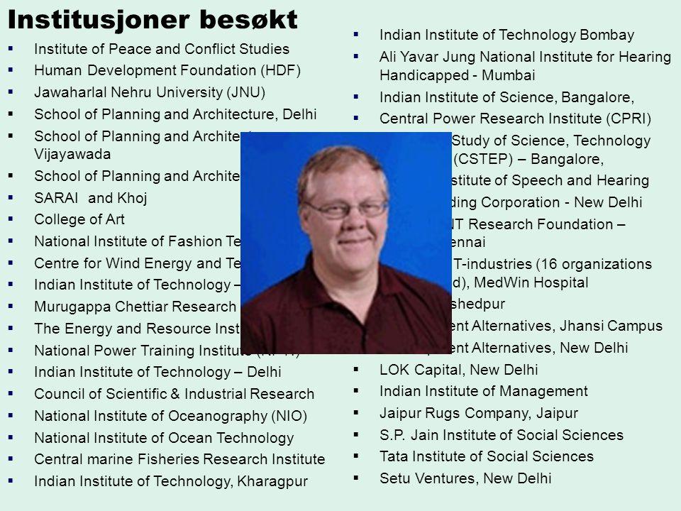 Institusjoner besøkt Indian Institute of Technology Bombay