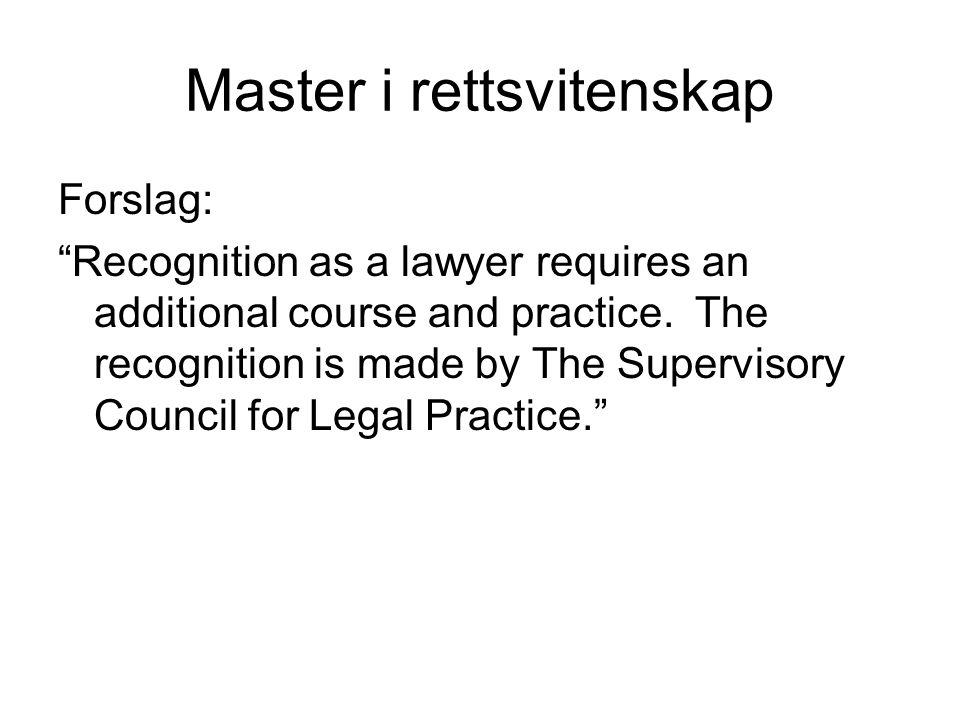 Master i rettsvitenskap