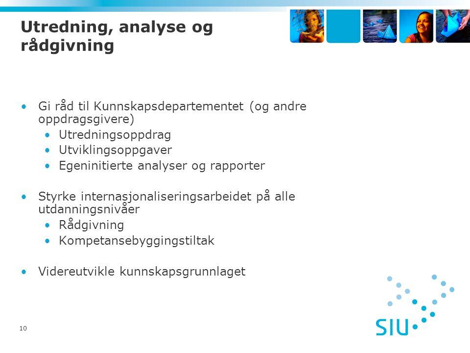 Utredning, analyse og rådgivning