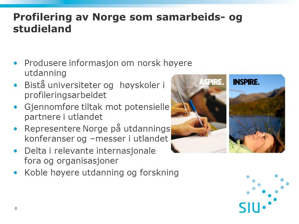 Profilering av Norge som samarbeids- og studieland