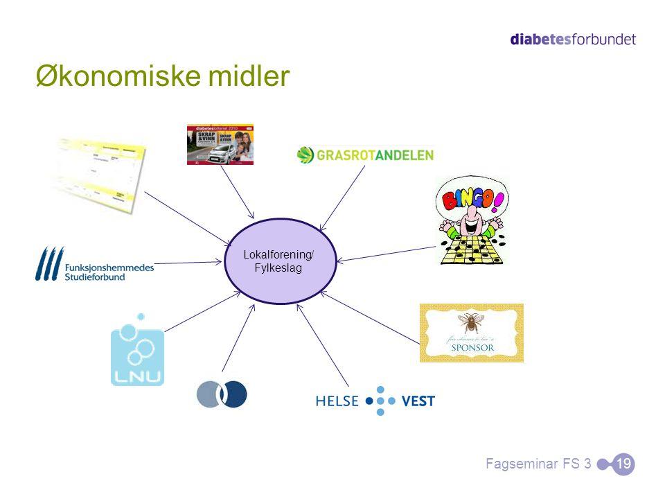 Økonomiske midler Lokalforening/ Fylkeslag Fagseminar FS 3