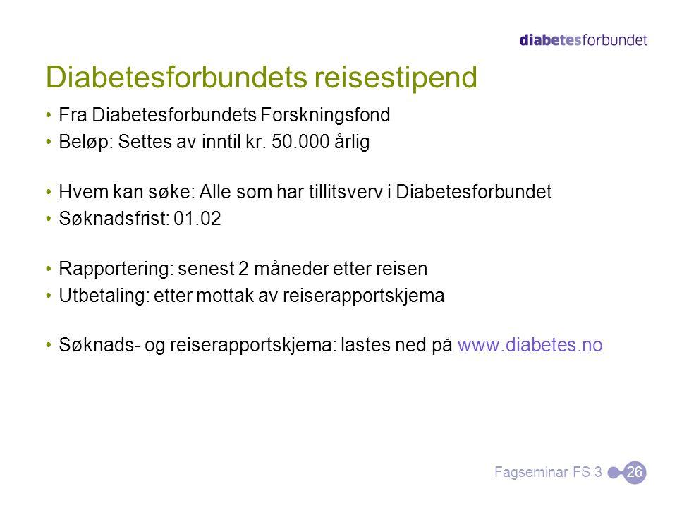 Diabetesforbundets reisestipend