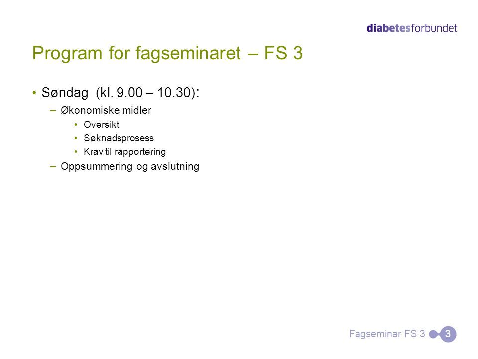 Program for fagseminaret – FS 3