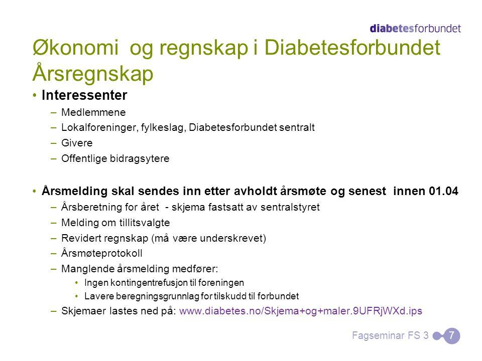 Økonomi og regnskap i Diabetesforbundet Årsregnskap