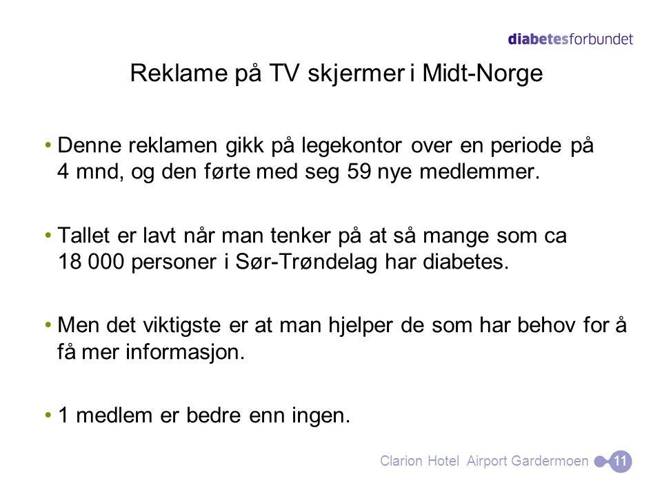 Reklame på TV skjermer i Midt-Norge