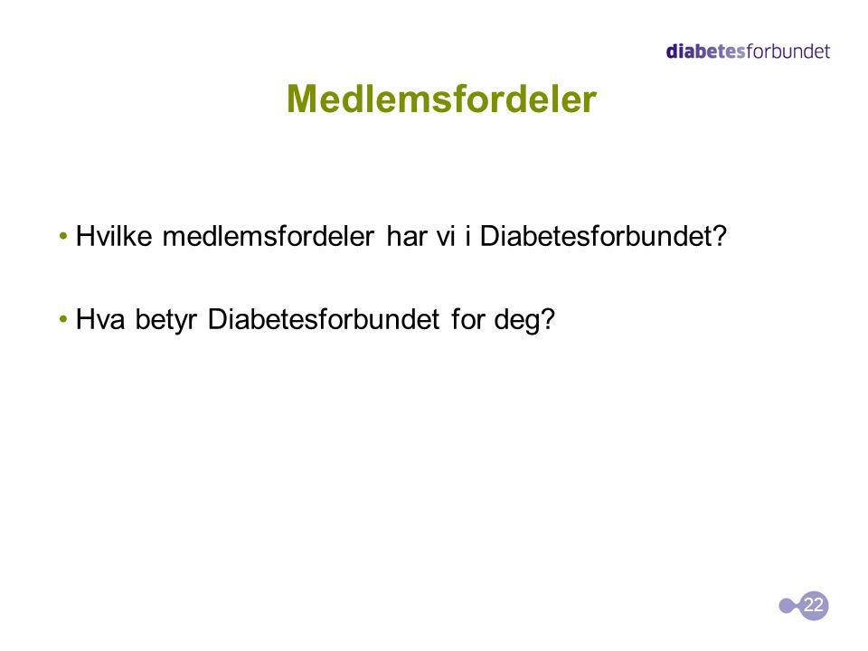 Medlemsfordeler Hvilke medlemsfordeler har vi i Diabetesforbundet