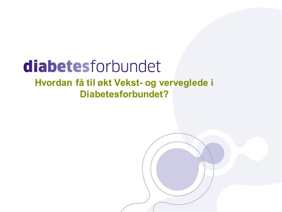 Hvordan få til økt Vekst- og verveglede i Diabetesforbundet